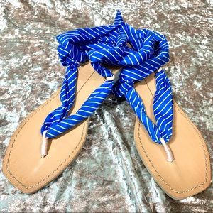 Dolce Vita Striped Henley Ankle Wrap Sandals